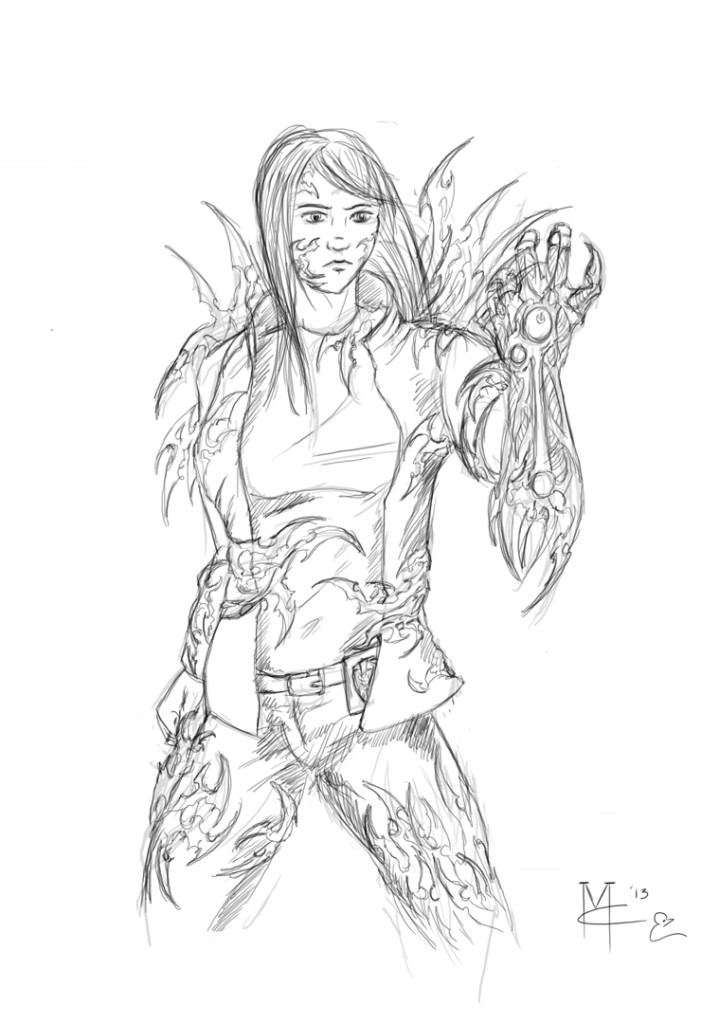 Witchblade clothed sketch