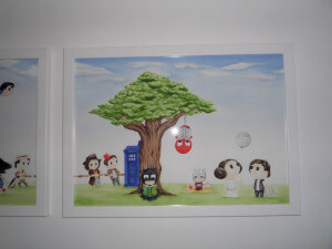 part one of geeky watercolour painting