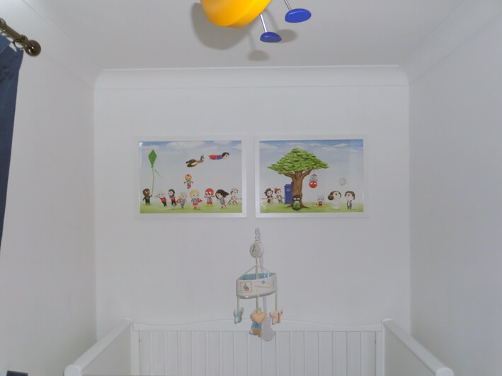 Not mural hanging in nursery