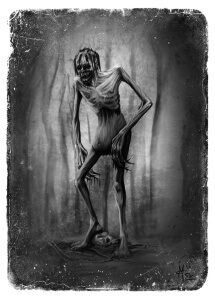 Wendigo illustration by Michael Cunliffe