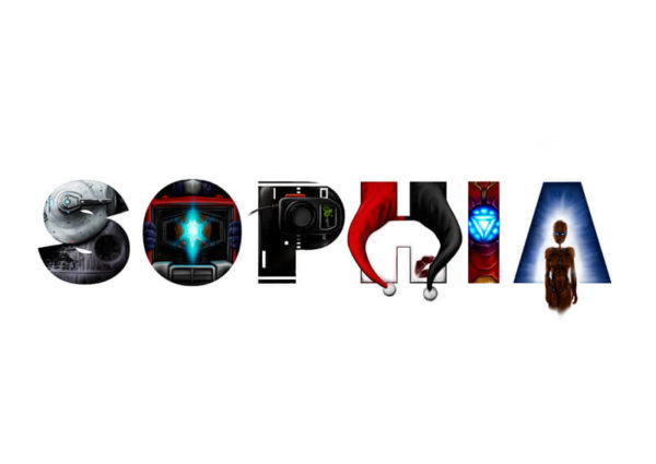 Sophia spelled in geek letters